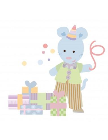 Stickers Nounours Doudous,Sticker bébé: Doudou cadeau