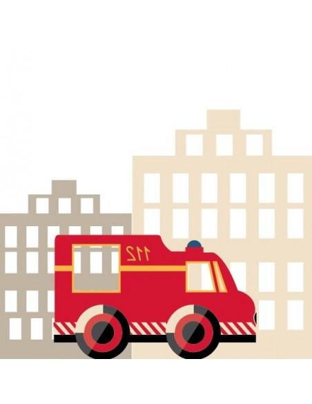 Housse de Couette Enfant,Housse de Couette Enfant Pompier: