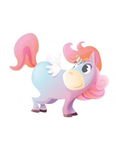 Stickers Féerie & Princesse,Stickers Enfant: Licorne avec ailes