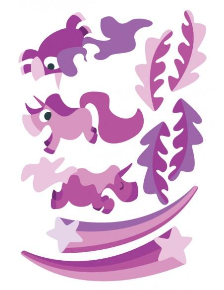 Stickers Féerie & Princesse,Stickers Enfant: Elements licorne
