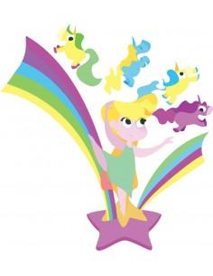 Stickers Féerie & Princesse,Stickers Enfant: Danseuse etoile