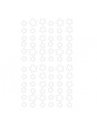Stickers Féerie & Princesse,Stickers Frise: Etoiles blanches