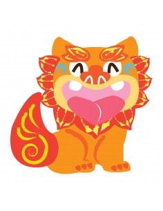 Stickers Monde,Sticker japon: Shisa