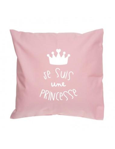 Coussin déco enfant : Je suis une Princesse