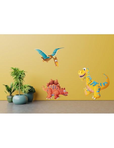 Tous nos produits,Sticker enfant dinosaure: Théodore le T-Rex