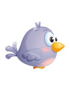 Stickers Animaux,Sticker Enfant Oiseau: Pioupiou Bleu Bedonnant