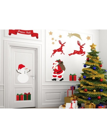 Stickers Noël,Sticker Noël: Planche Déco sapin