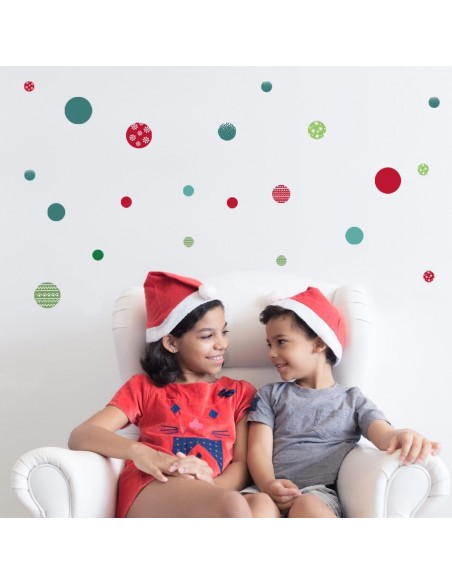 Stickers Noël,Sticker Boules de Noël