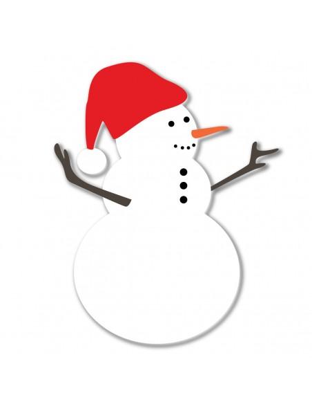Stickers Noël,Sticker Noël: Bonhomme de Neige - Repositionnable
