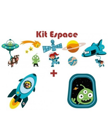 Stickers Espace,Kit Stickers: Espace