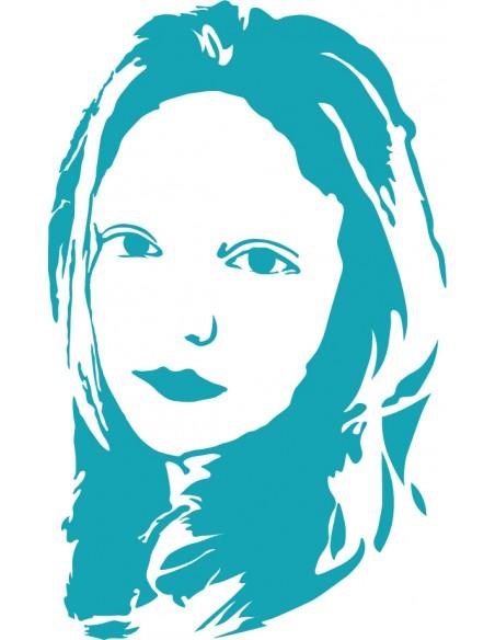 Stickers Portrait,Sticker mural: Portrait