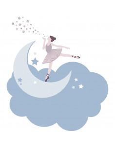 Stickers Danseuse,Stickers danse: Danseuse sur son nuage