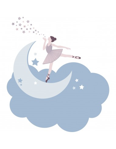 Stickers Danseuse,Stickers danse: Danseuse sur son nuage