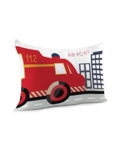 Taie d'oreiller,Taie d'oreiller Camion de Pompier