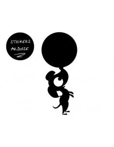 Sticker Ardoise,Stickers ardoises: Hector balle au nez