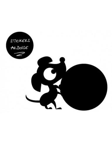 Sticker Ardoise,Sticker ardoise: Hector balle aux pattes