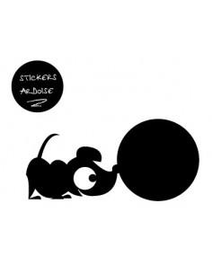 Sticker Ardoise,Sticker ardoise: hector qui renifle
