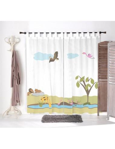 Voilage chambre bébé,Paire de Voilages: Savane