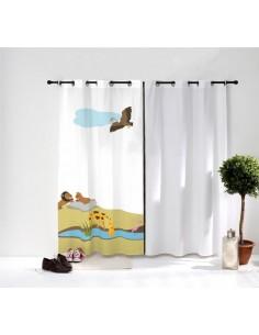 Rideaux chambre bébé,Rideau Enfant: Savane Aigle