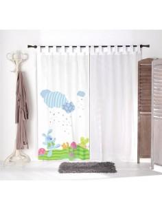 Voilage chambre bébé,Voilage Enfant: Doudou lapinou Blanc
