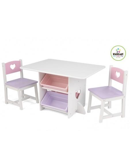 Tables- Chaises & Bureaux,Ensemble chaises et table Coeur
