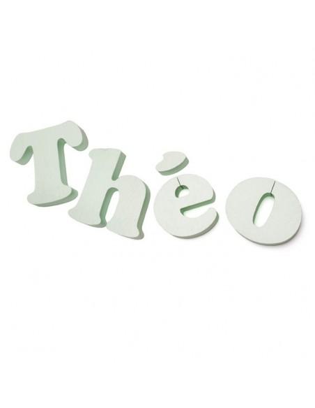 Lettre 3D en relief,Lettre Volume Brut - Aspect Lisse