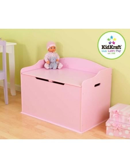 Coffre a jouet & Bancs,Coffre à jouets Enfant rose