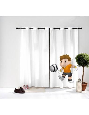 Rideaux chambre garçon,Rideau Enfant: Le tir de Hugo