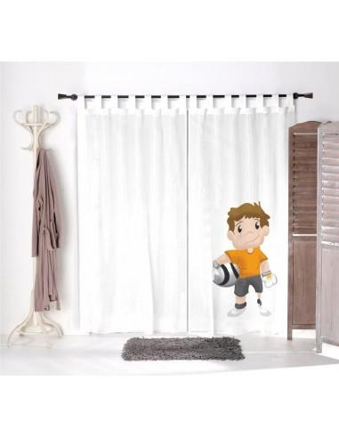 Voilage chambre garçon,Voilage Enfant: Hugo le gardien