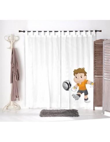 Voilage chambre garçon,Voilage Enfant: Le tir de Hugo