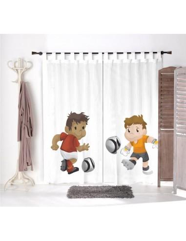Voilage chambre garçon,Paire de Voilages: Matheo et Hugo