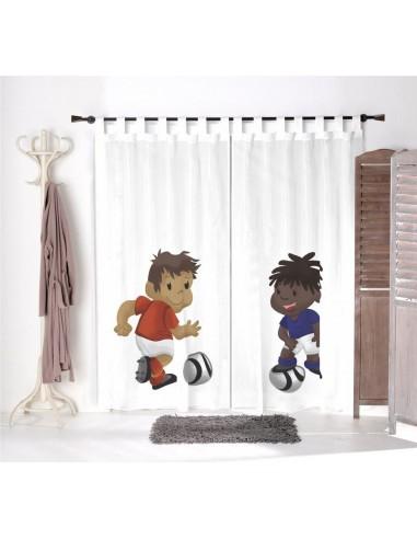 Voilage chambre garçon,Paire de Voilages: Matheo et Yanis