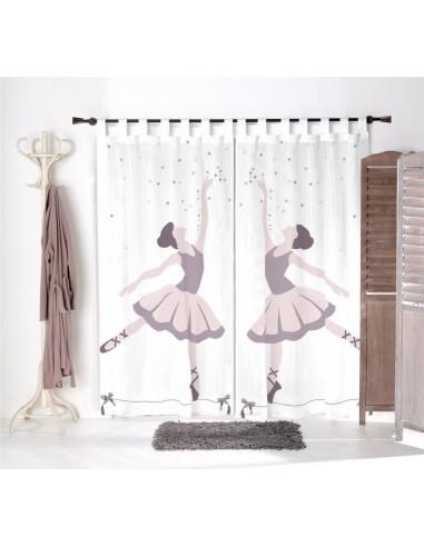 Voilage chambre fille,Paire de Voilages: Danseuse étoile