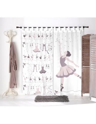 Voilage chambre fille,Paire de Voilages: Danse