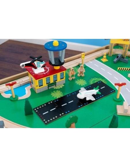 Table de jeux d'activités,Table et circuit Waterfall Mountain