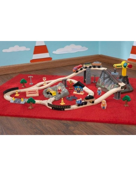 Table de jeux d'activités,Circuit train Top Construction