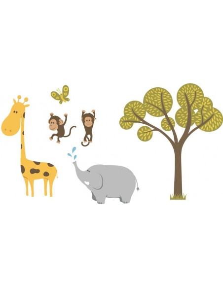 Stickers Jungle & Savane,Stickers bébé: Grande frise savane