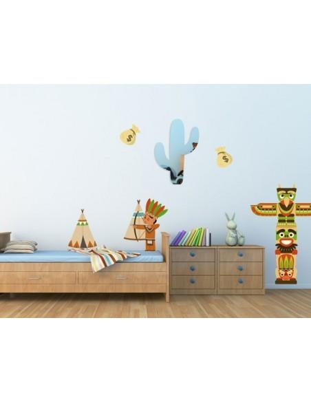Miroir enfant,Miroir enfant: cactus