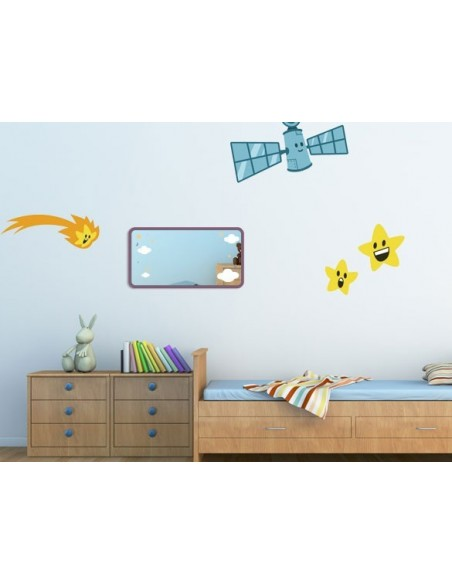 Miroir enfant,Miroir enfant: cadre nuages