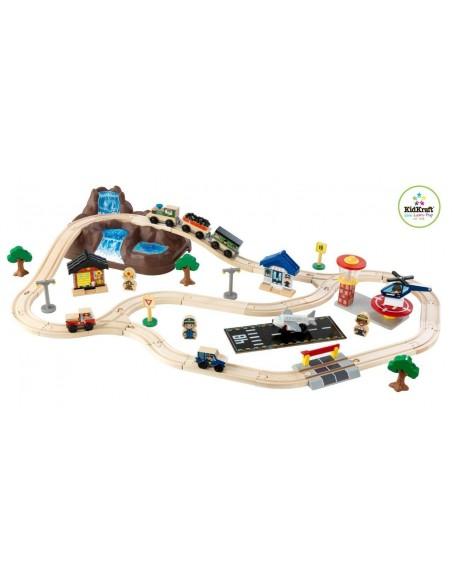 Table de jeux d'activités,Circuit train: La Montagne