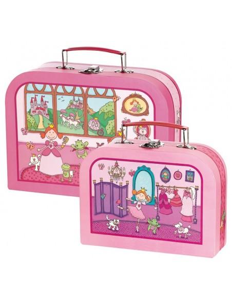 Boîtes & Paniers de rangement,Kit valises enfant: Princesse