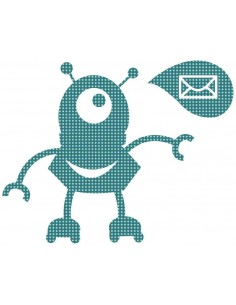 Stickers Robot,Sticker enfant: Robot Mail