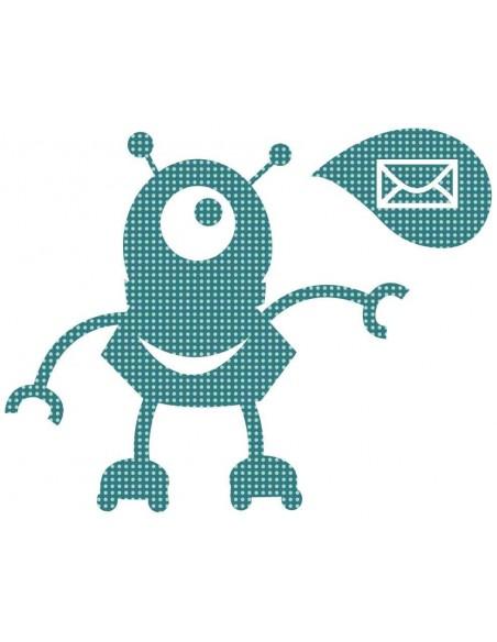 Stickers Robot,Sticker enfant: Robot Mail