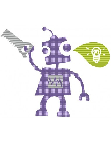 Stickers Robot,Sticker enfant: Robot Génie