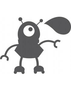 Stickers Robot,Sticker Ardoise: Robot bulle