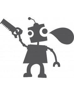Stickers Robot,Sticker Ardoise: Robot Outils