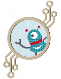 Stickers Robot,Sticker Tableau Robot 1 Oeil