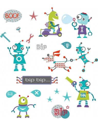 Stickers Robot,Petite planche de Stickers Robots