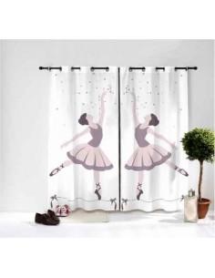 Rideaux chambre fille,Paire de Rideaux: Danseuse étoile