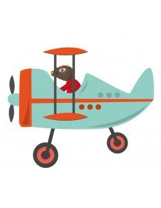 Sticker enfant: Avion Bleu...